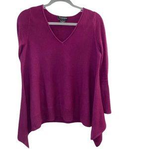 Magenta 100% Cashmere V Neck Womens Sweater XS